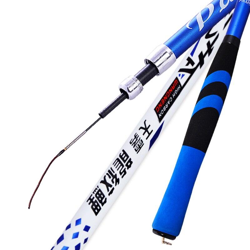 b324484f6 Alta Qualidade Pano Mão Haste de Carbono Taiwan Vara De Pesca 5.4 m Fluxo  haste Super Leve Super Fino Uma Haste Dois Pesca Comprimento Enfrentar em  Varas de ...