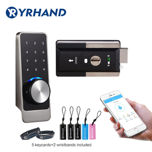 Waterproof Smart door rim locks, Bluetooth App RFID Keypad Electronic Door Lock, WiFi Security safe Digital lock for Home(China)