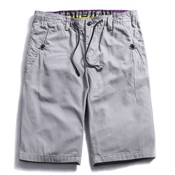 100 cotton casual shorts men elastic waist shorts for male fashion sim fit solid 4 color.jpg 250x250