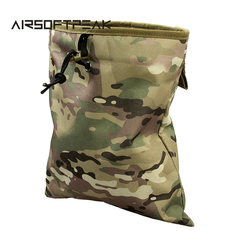 AIRSOFTPEAK Tactical Mag Dump Pouch Airsoft Paintball Military Recovery Molle <font><b>Magazine</b></font> Pouch Hunting Slingshot Ammo Bags