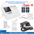 Free shipping IOS & android APP control security GSM alarm system  relay control for home burglar alarm zone fire alert