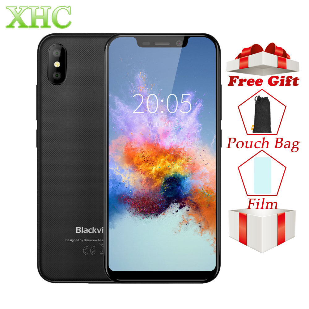 Blackview A30 5.5inch Smartphone Android 8.1 MTK6580A Quad Core RAM 2GB ROM 16GB 8MP+5MP Face ID Dual SIM WCDMA 3G Mobile Phones