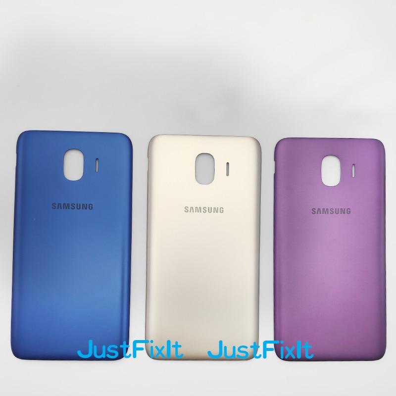 For Samsung Galaxy J4 Core J4Core J410F J410 SM-J410F Original Telephone Cases Housing Rear Battery Door Back Cover