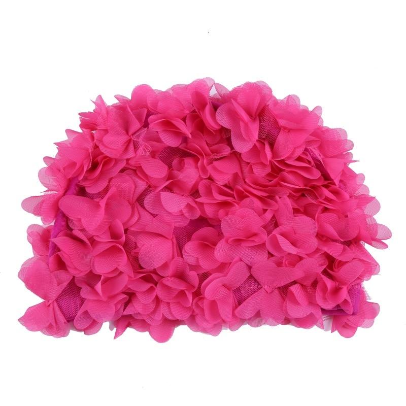 ed8328f9b40 Pure Color Three-dimensional Vintage Floral Woman Swim Cap Petal Retro  Swimming Hat Flower Bathing Cap. Material: nylon, pattern: solid color, ...