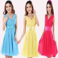 2014 New Arrival Short Costumes Bride Toast Clothing Bridesmaid Dress Chiffon Party Dress 10 Colors