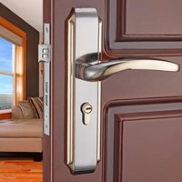 1Set Modernized Aluminum Alloy Interior Door Handlesets For 35 45mm Doors European Style Handle With Lock