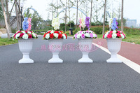 Wedding Plastic Flower Pot For Roman Pillar Wedding Road Lead Decoration Flower Decor 10 Pcs Lot