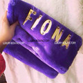 Customize Designer Runway style Faux Fur Clutch Women ladies handbag Purse Evening party bag Bolsa
