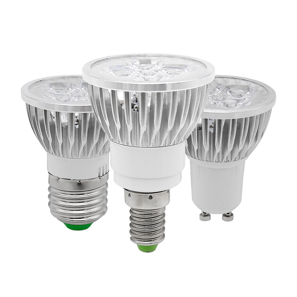 E14 E27 GU10 Full Spectrum LED Grow Light 12w 15w Bulb AC85-265V For Plants Vegs Hydroponic System