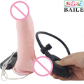Inflatable Realistic Big Dildos Vibrator with Suction Cup,Vibrating Fake Penis Adult Sex Products for Woman,Female Sex Toy DI009