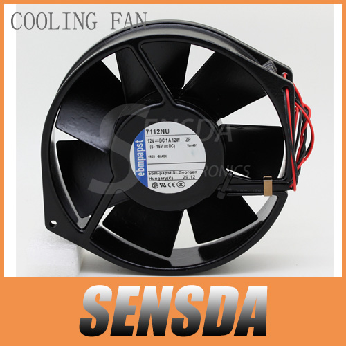 PAPST All metal original EBMPAPST 7112NU 17CM 17038 DC 12V 12W high temperature cooling fans