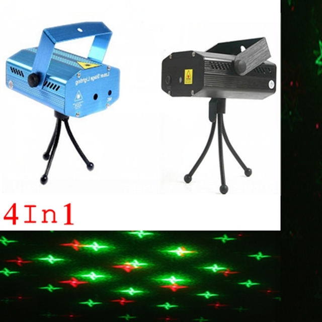100% NEW Free Shipping Mini Laser Stage Lighting Blue/Black 150mW Green&Red Laser DJ Party Stage Light Disco Dance Floor Lights