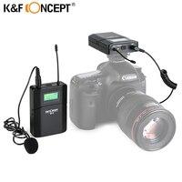 K&F CONCEPT M 8 Camera Microphone Wireless Lavalier Mic Receiver +Transmitter Record Radio for Nikon Canon Sony DSLR Microfone