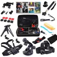 15 In 1 Sports Action Camera Accessories Kit for Gopro HERO 4 3+ SJCAM SJ4000 Waterproof Video Camera with Carrying Case