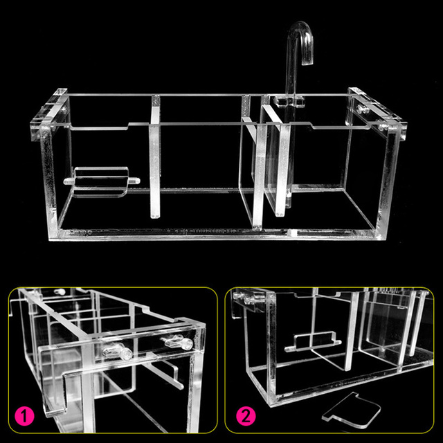 Fish Tank External Filter Box Acrylic Aquarium Increase Oxygen Water Filters Without Water Pump TB Sale