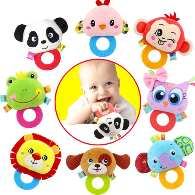 Baby Kids Plush Animal Rattle Toys Educational Musical Soft Baby Teether Bed Stoller Hanging Musical Raccoon Toys Baby Toy Gift 1