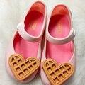 Mini Sandalias Cabeza de Pescado Zapatos de La Jalea de Melissa 2016 Muchachas Del Verano Para Niños Sandalias Amor Galletas Sandalias Sandalias de Alta Calidad
