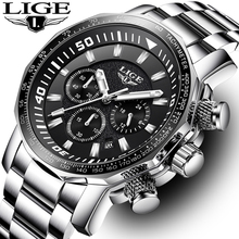 Men Watch LIGE Top Brand Luxury Fashion Quartz Clock Men's Business Waterproof Big Dial Military Sport Watches Relogio Masculin relogio masculino men watches lige top brand luxury fashion quartz clock men s business waterproof big dial military sport watch