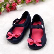 Подробная желе бантом рот рыбы сандалии сапоги baby симпатичные девушки обувь