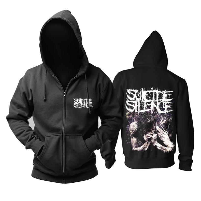 Bloodhoof  Suicide Silence Black  Deathcore Men's zipper hoodie Asian Size