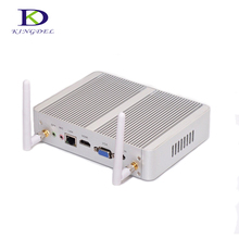 2017 Newest Fanless Mini PC Desktop Computer with Intel Celeron N3150 Quad Core 2.08GHz max 8GB RAM Dual LAN HDMI VGA optional