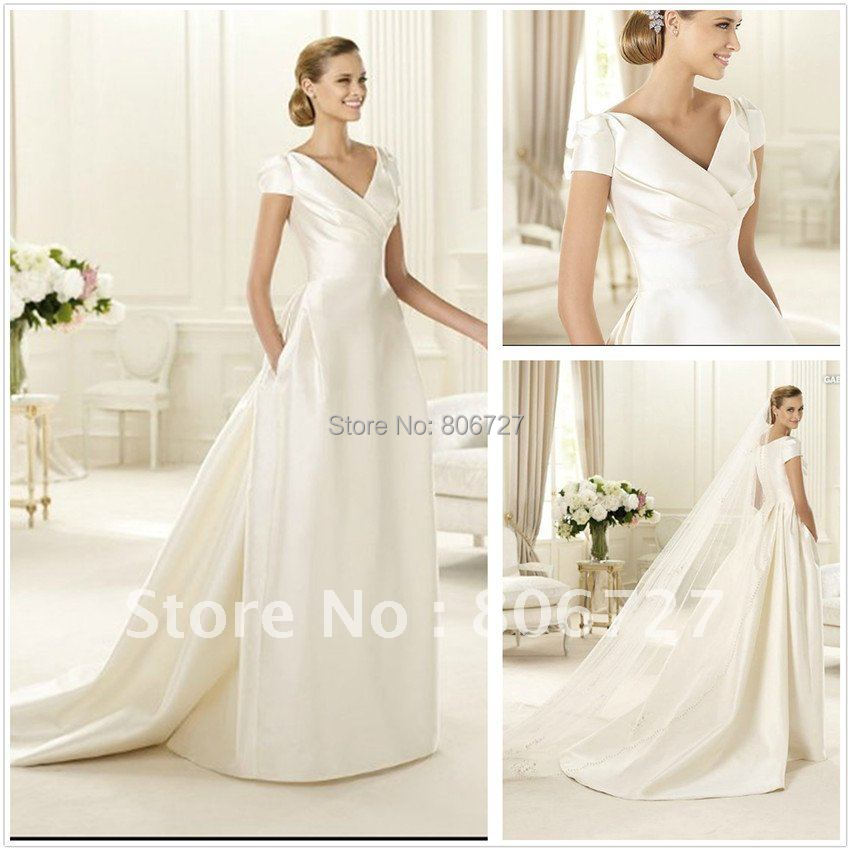 Wedding Dress Muslimah Simple : Aliexpress buy new design simple but elegant short