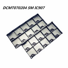 20PCS DCMT070204 SM IC907 high precision carbide insert lathe tools DCMT070204 CNC lathe parts metal turning tool Tokarnyy
