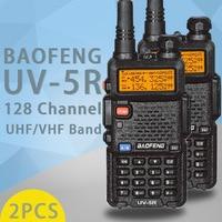 """רדיו ווקי טוקי (2 PCS) Baofeng UV5R Ham שני הדרך רדיו טוקי ווקי Dual-Band מקמ""""ש (שחור) (2)"""