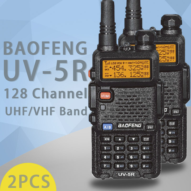 Image 2 - (2 PCS)Baofeng UV5R Ham Two Way Radio Walkie Talkie Dual Band Transceiver (Black)-in Walkie Talkie from Cellphones & Telecommunications