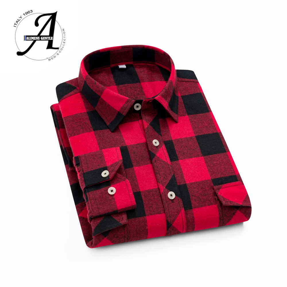 Hot sale Flannel Plaid Shirt Men Casual Long Sleeve High Cotton Fashion 2018 Male Shirt Chemise Homme Camisa Social Masculina