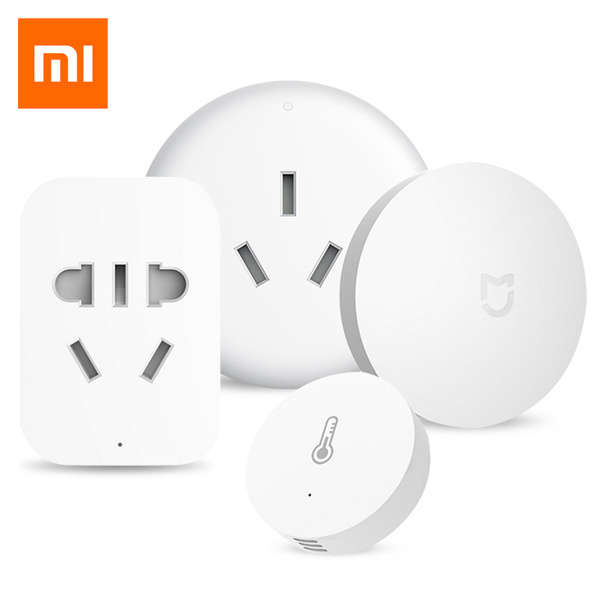 Xiaomi Smart Home Aqara Temperature Control Electrical Socket Set Wireless Switch Temperature Humidity Sensor Remote Controller taie thermostat fy800 temperature control table fy800 201000