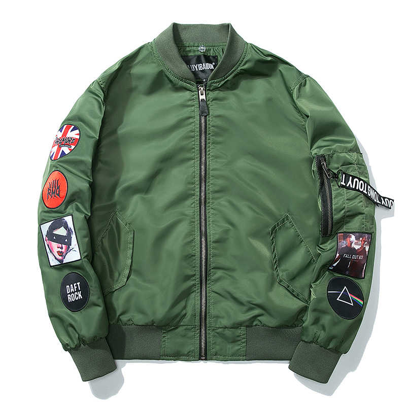 0d6f9435ef1 Hetobeto Men Bomber Jacket Hip Hop Patch Designs Slim Fit Pilot Coats  fashion Coat Men Jackets
