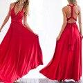 Envío gratis 13 mujeres atractivas del verano de color maxi dress vendaje rojo largo dress multiway damas de honor convertible dress robe longue