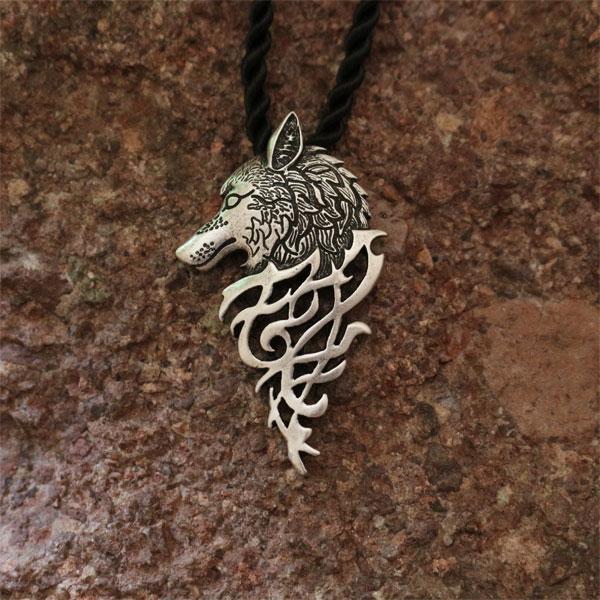 10ks velkoobchod módní celt vlčí hlava přívěsek viking vlčí muži náhrdelník amulet přívěsek šperky