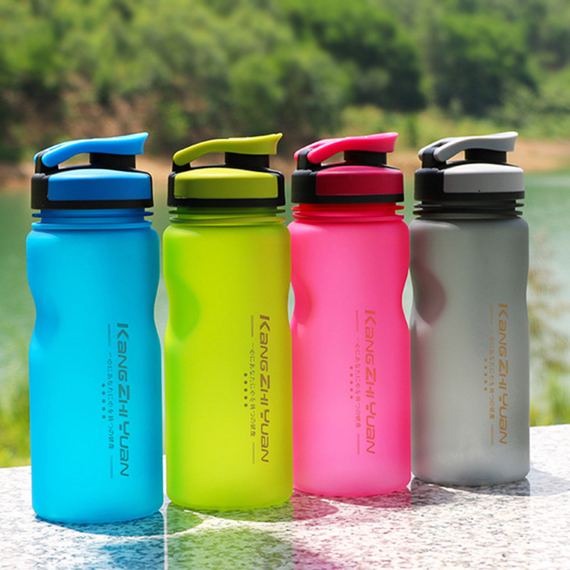 Scrub Eco Plastic Outdoor Sports Water Bottle Student Lovers Portable Kettle Simple Design Leak proof Space bottles in Water Bottles from Home Garden