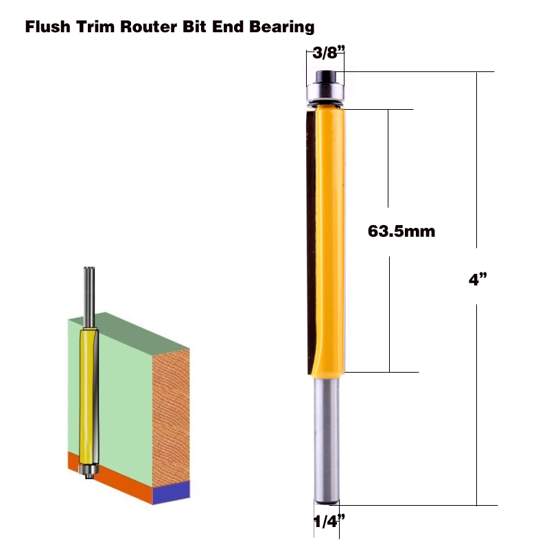 Wood Straight End Trim 1 2 1 4 Router Bit Woodworking