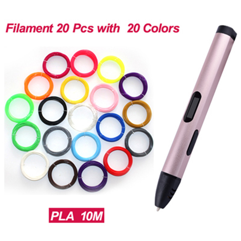 3D Magic Printer Pen Drawing 3D Pen with Free Three Color Filaments 3D Printing a 3d pens for kids birthday present Useful gifts