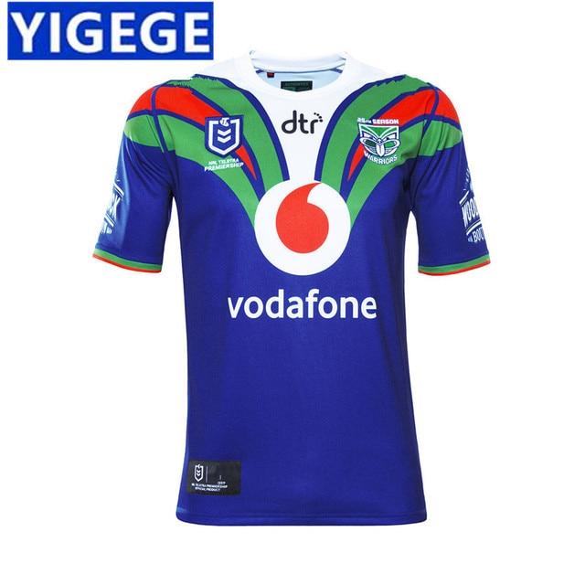 92fbc1e13d2 YIGEGE 2019 NEW ZEALAND WARRIORS HOME JERSEY NRL high quality New Zealand  Warriors rugby jerseys home rugby jerseys size S-3XL