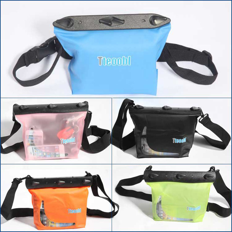 Tteoobl bolsa impermeable multifuncional IPX8 20 m Underwater sundries bolsa hombro/cintura seco PVC caso buceo deportes al aire libre
