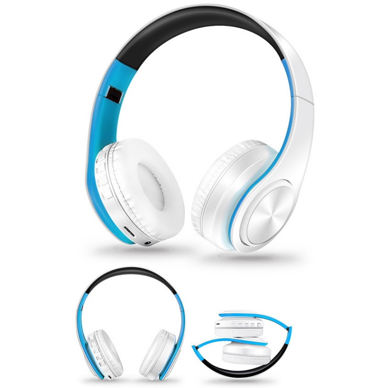 Foldable Stereo Audio Mp3 Bluetooth Headset Wireless Headphones Earphone support SD card with Mic