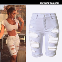 Plus Big Size Cool Summer Shorts For Women Female Hot 2018 Clothing White and Black Flexble Denim Jeans High Waist Beach