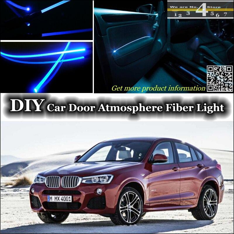 interior Ambient Light Tuning Atmosphere Fiber Optic Band Lights For BMW X4 F26 Inside Door Panel illumination (Not EL light)