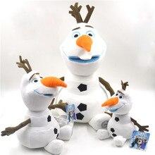 23 см/30 см/50 см аниме Олаф плюшевые куклы игрушки снеговик мультфильм плюшевые мягкие игрушки Дети животные игрушки для детей подарок на день рождения