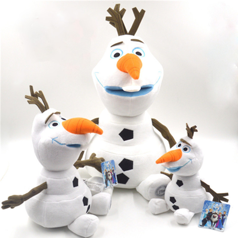 23cm/30cm/ 50cm Anime Olaf  Plush Doll  Toys  Snowman Cartoon Plush Stuffed  Toys Kids Animal Toys For Children Birthday Gift