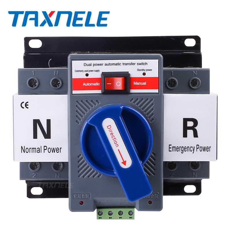 <font><b>ATS</b></font> 2P 4P 63A 230V 380V Micro Circuit Breaker Dual Power Automatic transfer <font><b>switch</b></font> Auto transfer <font><b>switch</b></font> image