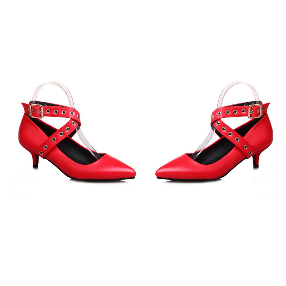 argento Ballet Pointed Primavera Black Autunno Shoes Pink Buckle Fashion Women Ladies Top rosa Asumer nero Heels New Red 2018 rosso wpHBqnz
