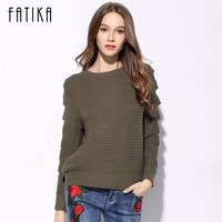 FATIKA 2017 New Fashion Autumn Winter Women S Pullovers O Neck Hollow Out Full Sleeve Knitted
