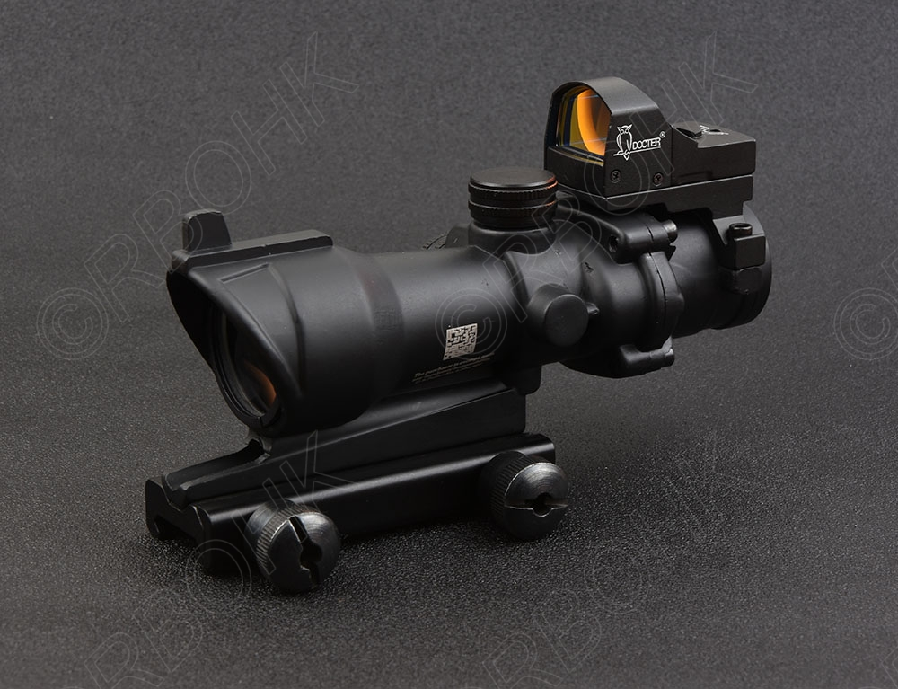 Tactical 4x32 Rifle scope and 1x docter red dot sight hunting shooting M2833 M7830 tactical trijicon acog style 4x32 rifle scope and 1x docter red dot sight hunting shooting m2833 m7830