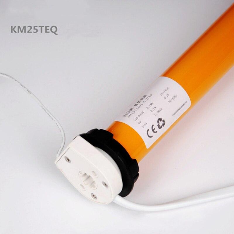 100-240 V AC moteur tubulaire KM25TEQ-0.7/20 Dooya rouleau stores moteur avec dc2700 match 38mm rouleau tube pour système de maison intelligente