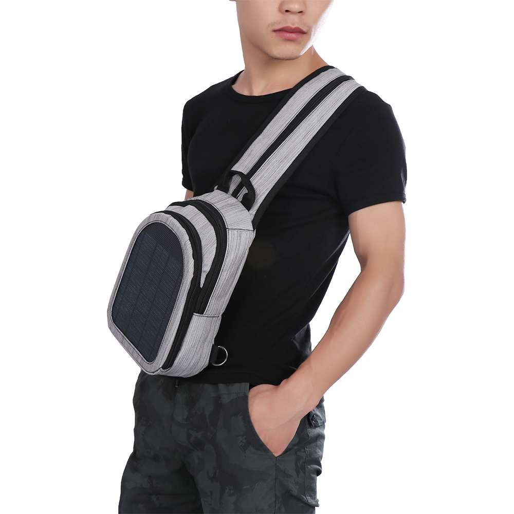 1PC Multi Color Nylon Travel Bag Solar Panel Backpacks Convenience Charging Laptop Bags for Travel Solar